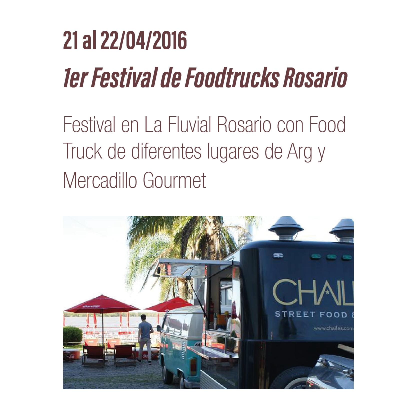 1er Festival Foodtrucks Rosario